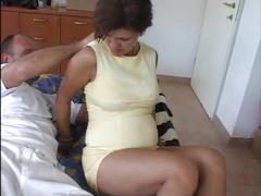 Pregnant beauty gets fucked.