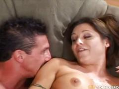 Bubble butt brunette gets pounded