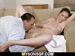 Oral exchange with her bfs' dad