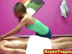 Customer gets nice happy ending massage.