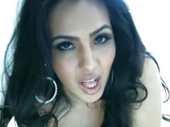 Hot ass brunette vibrator close up masturbation