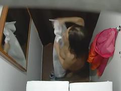 Curvy woman massage voyeur (staged)