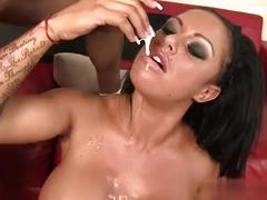 Sexy pornstar cum in throat