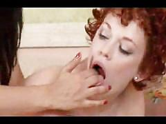lesbian, red head, indian, girl-on-girl, lesbians, redhead, desi, pussy-licking, brunette, red-head, fingering, rubbing, natural-tits