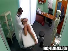 Foxy blonde honey getting felt up bde still dizzy after doctor cums in her 720 2