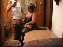 Slutty german mature in hot lingerie fucked