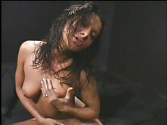 threesome, orgy, latin, big cock, blowjob, double penetration, busty milf, ass fucking, maximum orgy, van damage, sandra romain, tony t