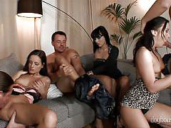 When bitches get undressed @ 5 incredible orgies