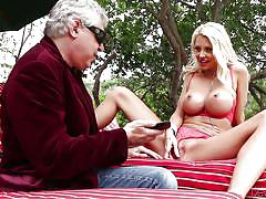milf, blonde, high heels, deepthroat, pussy licking, fingering, outdoors, big fake tits, devils film, fame digital, john strong, courtney taylor, david christopher