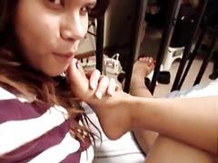 Lesbian foot worship
