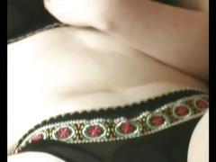 Chubby brunette ex girlfriend masturbating her hairy pussy
