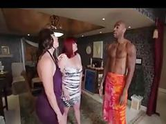 White bbw interracial 3some