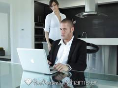 Puremature - hot holly michaels gets home for some real sex