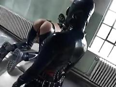 Two gasmaked mistress and one slave