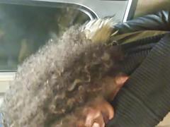 Black curly hair jerktrain face