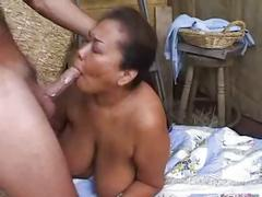 Asian bbw fucked on a barn