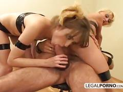 Hardcore threesome with two hot chicks and a big cock nl-13-03
