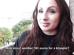 Graduate girl sucks cock for cash