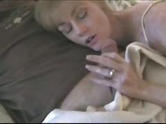 Melanie drains a few cocks