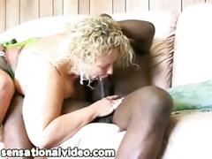 Horny white bbw wife fucks strange black man she met at bar