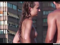 Topless bikini girls beach spy voyeur hd video