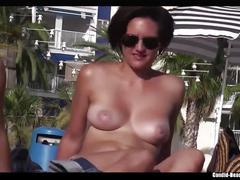 Topless bikini girls beach spy voyeur hd video