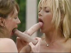 Huge titted milf with her lesbo friends