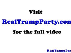 Real young amateurs in sex party giving head in pov