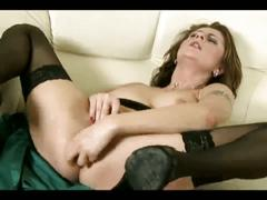 A horny collection of milfs fingering & drilling their twats