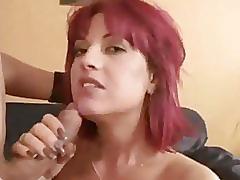 Redhead slut love a deep throat!