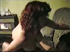 Guy fils his big-boobed wife sexing up a buddy