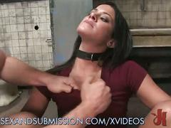 Sexy slut gets dirty cop double penetration