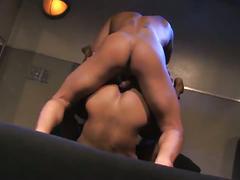 Sexy, muscular hunks hardcore ass fucking