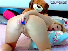 Gorgeous blonde masturbating with a dildo 3 wmv
