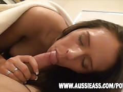 Amateur australian babe gets fucked in the ass in homemade pov anal video