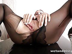 Hot redhead wet and pissy