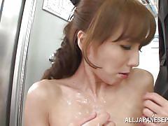 Skinny japanese girl groped in a train