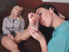 Lesbian doctor worship feet