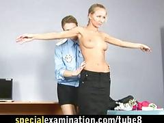 Humiliating special nude examination for young babe