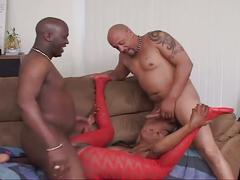 Chocolate supreme double dick sex