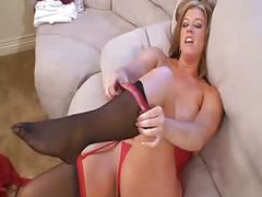 She squirts all over her feet