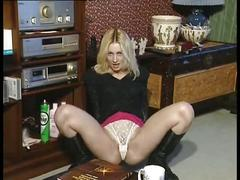 British slut jo may plays with herself in various scenes