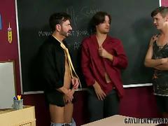 School threeway anal with bryan slater, krys perez and timo garrett