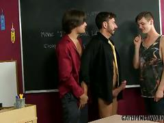 School threeway anal with bryan slater, krys perez and timo garrett
