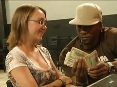 Blonde trades sex for cash