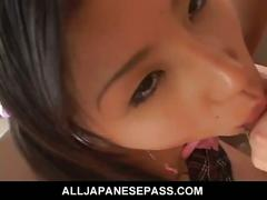 Teen cutie ren in a school uniform sucking dick