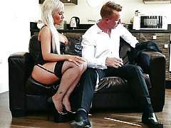 Hot milf pampers her husband