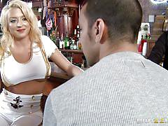 blonde, babe, spit, huge tits, bar, dick sucking, boob job, 69 position, big tits in uniform, brazzers network, leya falcon, marco rivera