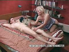 Boy finds mom masterbating!