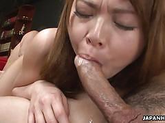 Saki gets shared by her boss and another man.